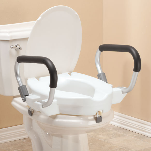 "4"" Toilet Seat with Arms and Lid - View 1"