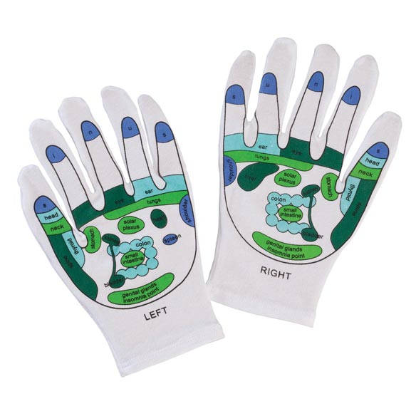Reflexology Gloves, 1 Pair