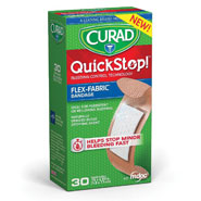 "Skin & Wound Care - Curad® QuickStop!® Bandages .75""x2.83"", 30 count"