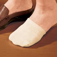 Comfort Footwear - Toe Half Socks, 2 Pair