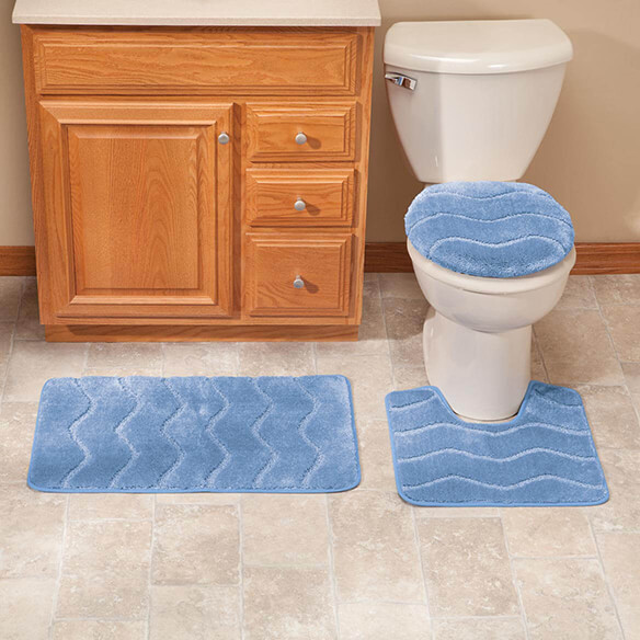 3-Piece Plush Wave Bathroom Set by OakRidge™