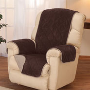 Home Comforts - Reversible Plush to Suede Waterproof Recliner Protector by OakRidge™