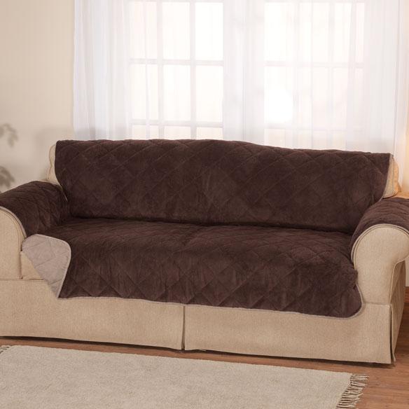 Plush To Suede Waterproof Sofa Protector By OakRidge™