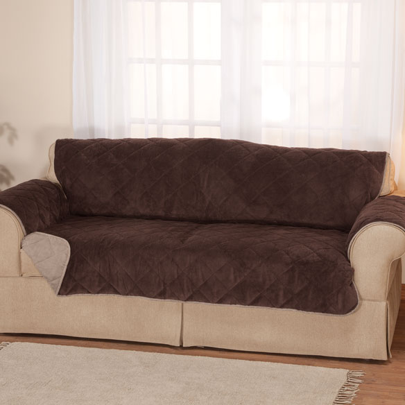 Plush to Suede Waterproof XL Sofa Protector by OakRidge Comforts™
