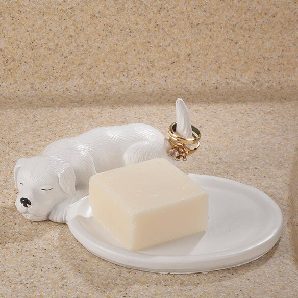 Playful Dog Soap Dish & Ring Holder by OakRidge™