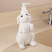 Bathroom Accessories - Playful Dog Soap Dispenser by OakRidge™