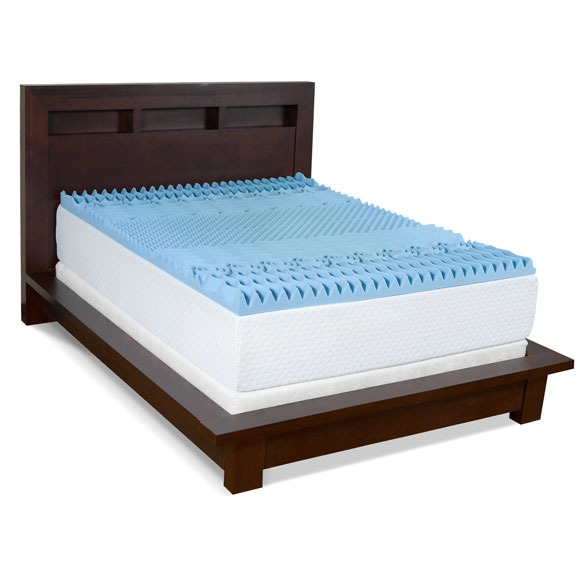 "3"" Gel Memory Foam 7-Zone Mattress Topper"
