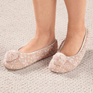Footwear - Nordic Style Ballet Slippers with Pom Pom