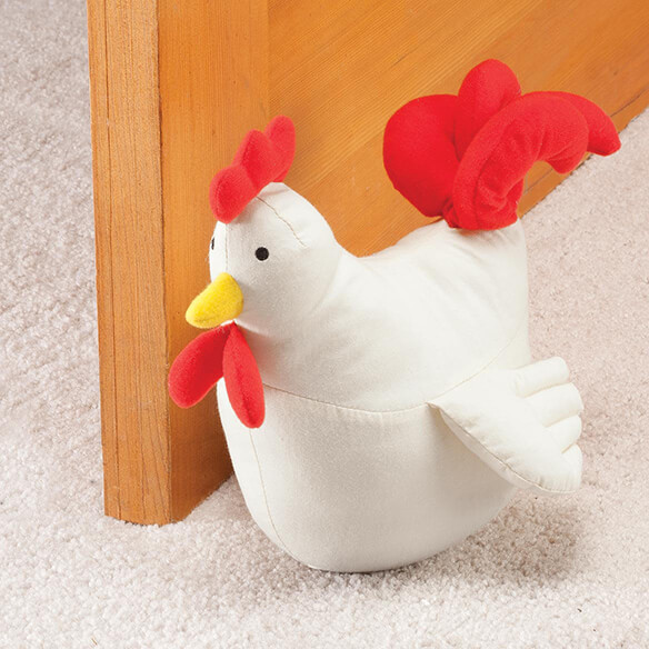 Plush Rooster Doorstop by OakRidge™ - View 1