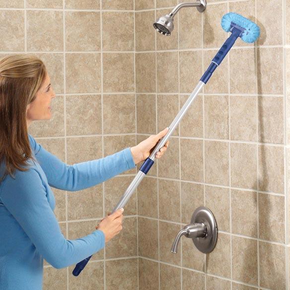 Telescopic Tub Amp Tile Scrubber Scrub Brush Easy Comforts