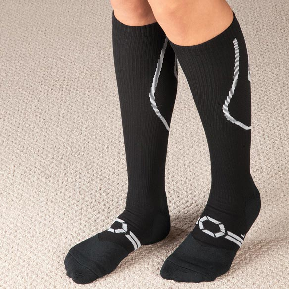 Silver Compression Socks, 20–30 mmHg - View 1