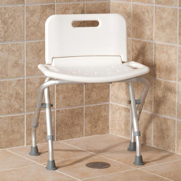 Folding Bath Seat with Back - View 1