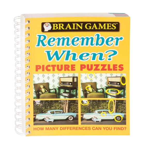 Brain Games® Remember When Picture Puzzle Book - View 1