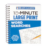Memory Loss - Brain Games® 10-Minute Large Print Word Search Book