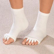 New - Comfy Toes Gel-Lined Alignment Socks