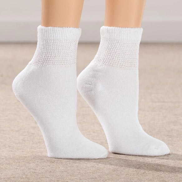 Silver Steps™ 3 Pack 1/4 Cut Cool + Dry Diabetic Socks