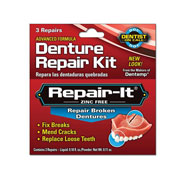 Oral Hygiene - Repair-It® Denture Repairs, 3 Repairs