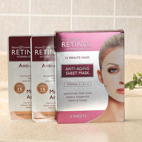 Retinol Anti-Aging Sheet Masks - View 1