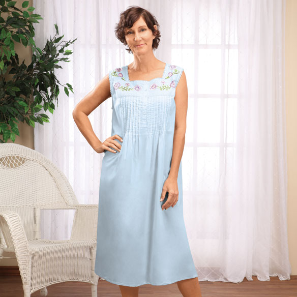 Sleeveless Cotton Gown