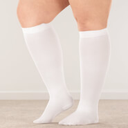 Proudly Made in the U.S.A. - Silver Steps™ Wide Calf Compression Socks, 8–15 mmHg