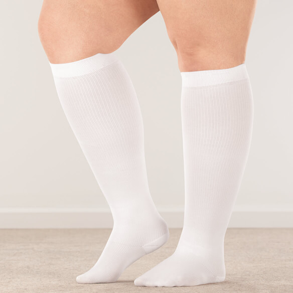 Silver Steps™ Wide Calf Compression Socks, 8–15 mmHg - View 1
