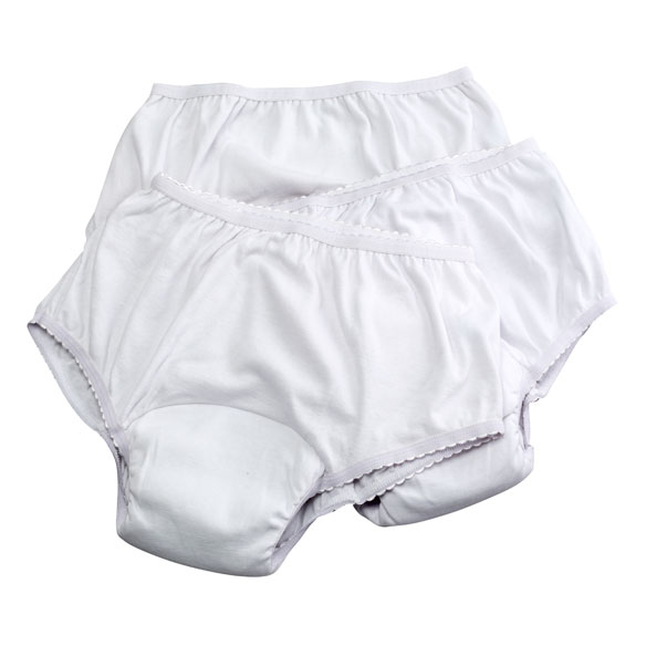 3 Pack Women's Reusable Incontinence Underwear, 6 oz.