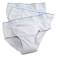 New - 3 Pack Men's Reusable Incontinence Underwear, 6 oz.