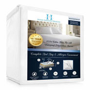 Antibacterial & Antimicrobial - Hypoallergenic Waterproof Mattress Encasement