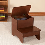Home - Wooden Step Stool with Storage by OakRidge™