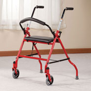 Walkers & Rollators - Two-Wheeled Walker with Seat
