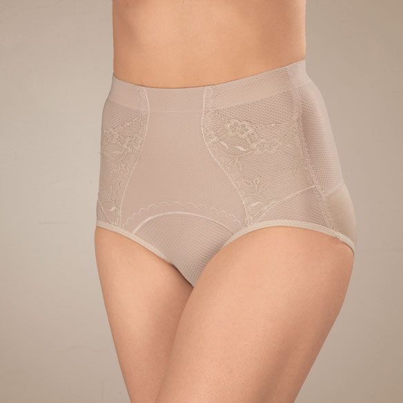 Floral Girdle Brief - View 1