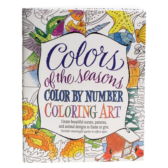 Colors of the Seasons Color by Number Coloring Book - View 1
