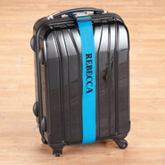 New - Personalized Blue Luggage Strap