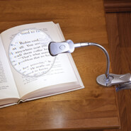 Reading Aids - Clip-On Magnifier with LED Light