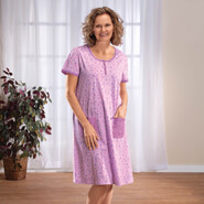 Apparel - Lavender Floral Print Nightgown