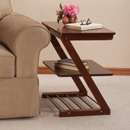 Furniture - Side Table with Adjustable Shelf by OakRidge™