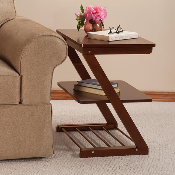 Side Table with Adjustable Shelf by OakRidge™