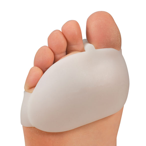 Silver Steps™ Silicone Ball of Foot Pad with Toe Separator - 1 Pair