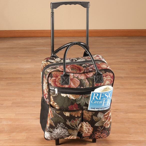 Rose Tapestry Rolling Tote - View 1