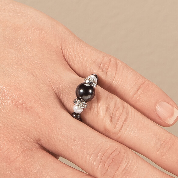Hematite Stretch Ring
