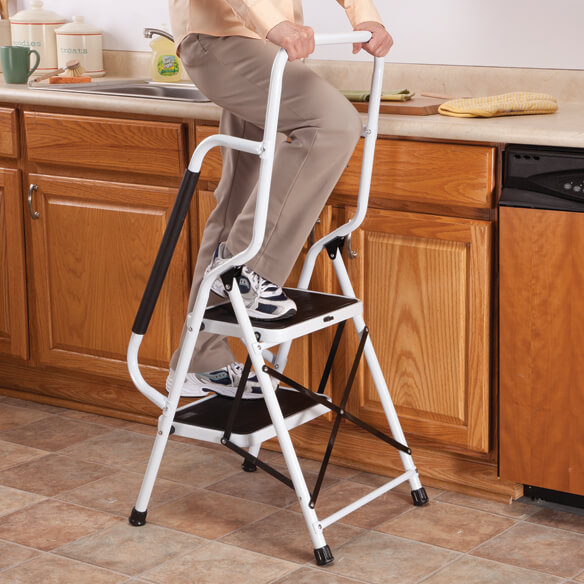Step Ladder with Handles by LivingSURE™