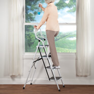 Home Safety & Security - Folding Four-Step Ladder by LivingSURE™
