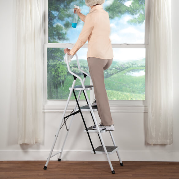 Folding Four-Step Ladder by LivingSURE™