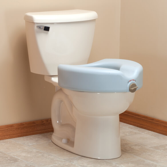 Antimicrobial Locking Raised Toilet Seat - View 1