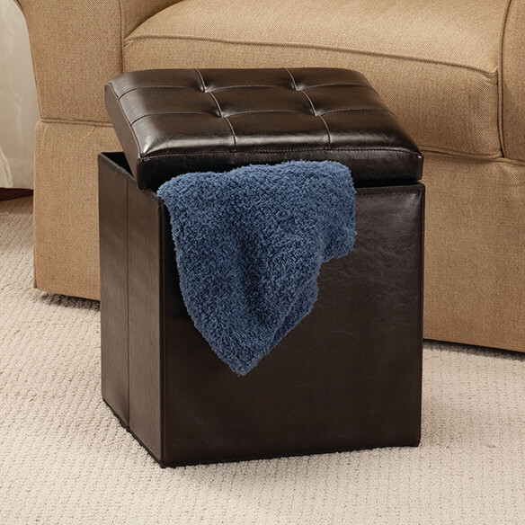 Folding Storage Ottoman - View 1