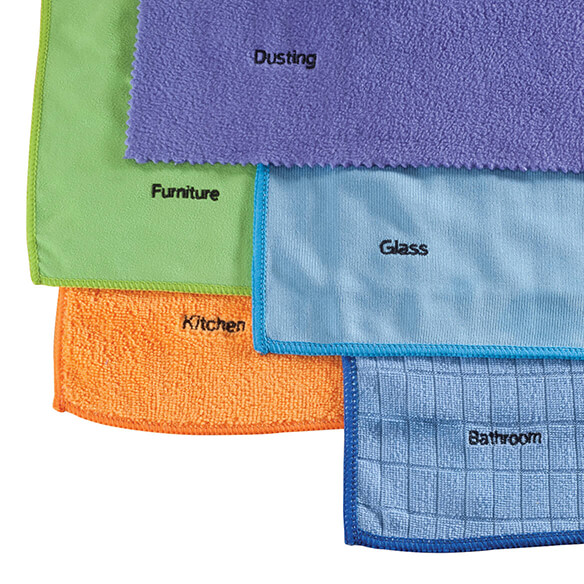 5-Piece Microfiber Cloth Cleaning Set