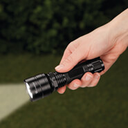 "Home Safety & Security - 5"" Tactical Flashlight with Rechargeable Battery by LivingSURE™"