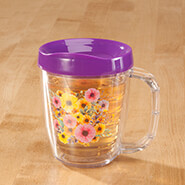 Microwave Cooking - Tritan™ 12-oz. Insulated Mug, Floral