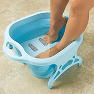 Pain Remedies - Collapsible Foot Spa with Massager