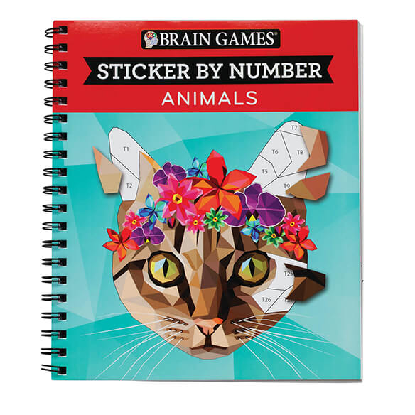"Brain Games™ ""Animals"" Sticker By Number Book - View 1"